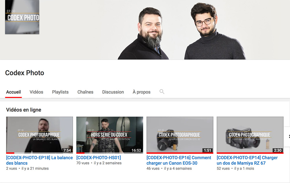 Comment régler la balance des blancs ? Codex Photo Capture Youtube